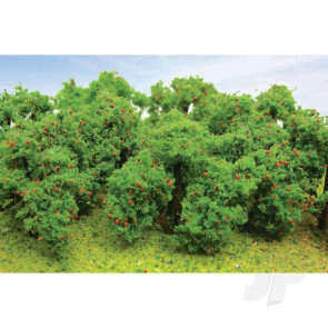 "JTT 92122 Apple Tree Grove, 2"" to 2-1/4"" Tall, (6 pack) For Scenic Diorama Model Trains"