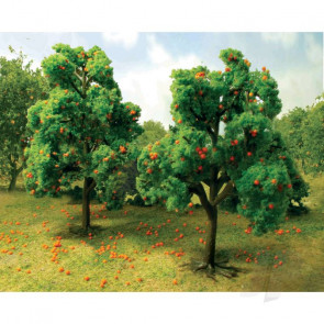 "JTT 92125 Orange Tree Grove, 4-1/2"" to 5"" Tall, (6 pack) For Scenic Diorama Model Trains"