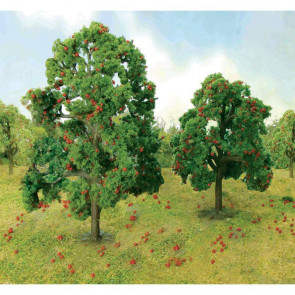"JTT 92126 Apple Tree Grove, 4-1/2"" to 5"" Tall, (6 pack) For Scenic Diorama Model Trains"