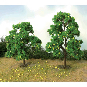 "JTT 92127 Lemon Tree Grove, 4-1/2"" to 5"" Tall, (6 pack) For Scenic Diorama Model Trains"