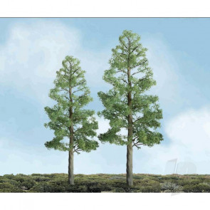 "JTT 94294 Pine, 4"", (2 pack) Trees For Scenic Diorama Model Trains"