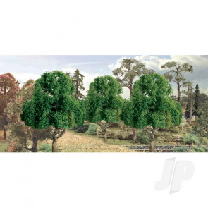 "JTT 94300 Deciduous, 3"", (2 pack) Trees For Scenic Diorama Model Trains"