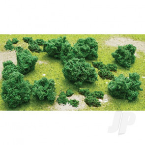 """JTT 95062 Foliage Clumps Bushes, 1/2"""" to 1"""", (55 pack) For Scenic Diorama Model Trains"""