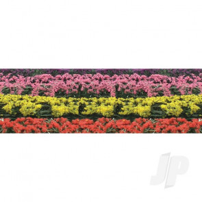 """JTT 95509 Flower Hedges, 5""""x3/8""""x5/8"""", HO-Scale, (8 pack) For Scenic Diorama Model Trains"""