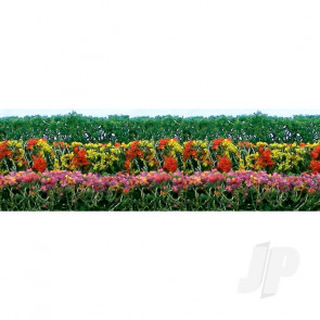 """JTT 95510 Flower Hedges, 5""""x3/8""""x5/8"""", HO-Scale, (8 pack) For Scenic Diorama Model Trains"""