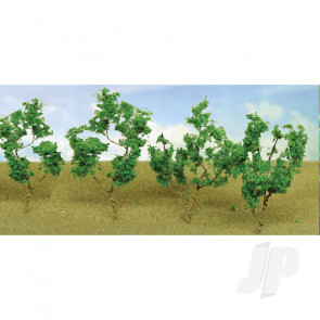 """JTT 95518 Light Green Branches, 1.5"""" to 3"""", (60 pack) For Scenic Diorama Model Trains"""