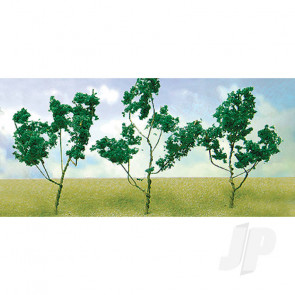"""JTT 95519 Medium Green Foliage Branches, 1.5"""" to 3"""", (60 pack) For Scenic Diorama Model Trains"""