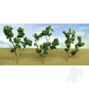 """JTT 95520 Dark Green Branches, 1.5"""" to 3"""", (60 pack) For Scenic Diorama Model Trains"""