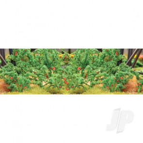 """JTT 95526 Tomatoes, 1-1/2"""" Tall, O-Scale, (12 pack) For Scenic Diorama Model Trains"""