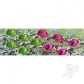 """JTT 95528 Cabbage & Lettuce, 1/2"""" width, O-Scale, (20 pack) For Scenic Diorama Model Trains"""