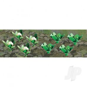 "JTT 95529 Broccoli & Cauliflower, 3/8"" width, HO-Scale,(20 pack) For Scenic Diorama Model Trains"