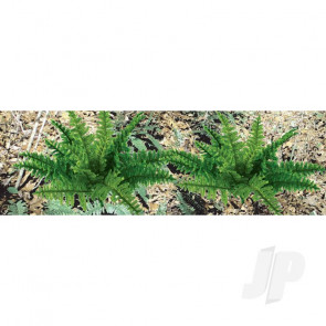 """JTT 95534 Ferns, 1"""" Tall, O-Scale, (9 pack) For Scenic Diorama Model Trains"""
