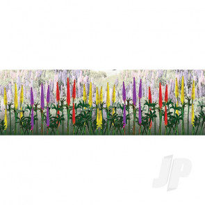 "JTT 95542 Lupines, 1"" Tall, O-Scale, (8 pack) For Scenic Diorama Model Trains"