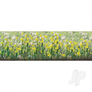 "JTT 95543 Daisies, 1/2"" Tall, HO-Scale, (24 pack) For Scenic Diorama Model Trains"