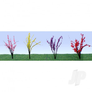 "JTT 95545 Flower Bushes Assorted, 1/2"" to 3/4"", HO-Scale, (40 pack) For Scenic Diorama Model Trains"