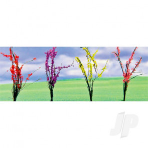 "JTT 95546 Flower Bushes Assorted, 1"" to 1-1/2"", O-Scale, (32 pack) For Scenic Diorama Model Trains"