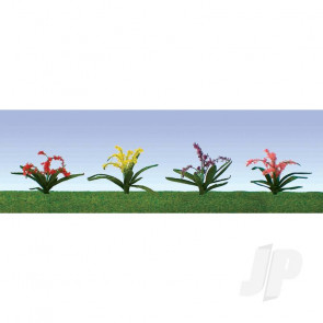"JTT 95548 Flower Plants Assorted, 3/8"", HO-Scale, (30 pack) For Scenic Diorama Model Trains"