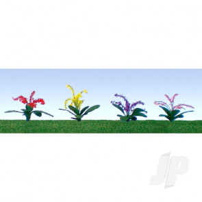 "JTT 95550 Petunias Assorted, 3/8"", HO-Scale, (30 pack) For Scenic Diorama Model Trains"
