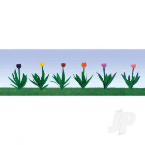"JTT 95554 Tulips, 1/2"", HO-scale, (36 pack) For Scenic Diorama Model Trains"