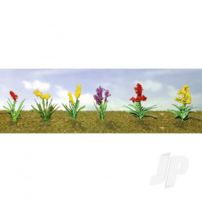 JTT 95559 Assorted Flower Plants 2, HO-Scale, (12 pack) For Scenic Diorama Model Trains