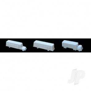 "JTT 97007 Buses & Truck, 1/8""=1'-0"" 1/100, White, (3 pack) For Scenic Diorama Model Trains"