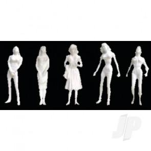 "JTT 97108 Female Figures, 1/8"" (1/100), White, (10 pack) For Scenic Diorama Model Trains"