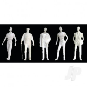 """JTT 97117 Male Figures, 1/8"""" (1/100), White (10 pack) For Scenic Diorama Model Trains"""