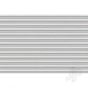 JTT 97402 Corrugated Siding, 1/100, HO-Scale, (2 pack) For Scenic Diorama Model Trains
