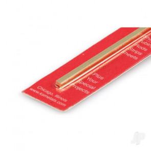 K&S 1/8 Square Brass Bar (12in long) (2 pcs)