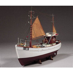 Mary Ann 45 Ton Fishing Boat Cutter 1:33 Scale - Billing Boats Wooden Ship Kit B472