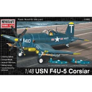 US Navy F4U-5 Corsair 1:48 Scale Minicraft Plastic Kit