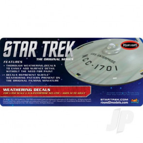 Polar Lights 1:350 Star Trek U.S.S Enterprise Weathering For Plastic Kits