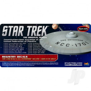 Polar Lights 1:350 Star Trek U.S.S Enterprise Registry For Plastic Kits