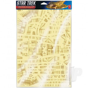 AMT 1:750 Star Trek: Deep Space Nine: DS9: Cardassian Paneling Decals (Upgrades to kit AMT1028) For Plastic Kits