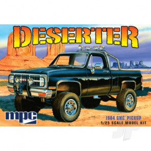 MPC 1:25 1984 GMC Pickup (Black) Truck Plastic Kit