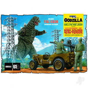 MPC Godzilla Army Jeep Plastic Kit