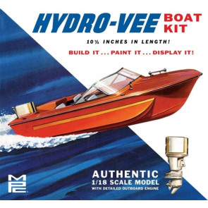 Vintage Hydro-Vee Power Boat 1:18 Scale MPC Highly Detailed Plastic Boat Kit