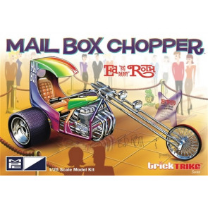 MPC 1:25 Ed Roth Mail Box Clipper Chopper Trike Plastic Kit Model Rat Fink American