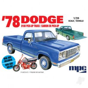 MPC 1978 Dodge D100 Custom Pickup (2T) Plastic Kit