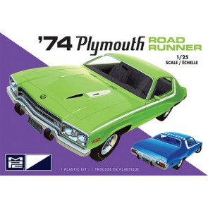 MPC 1:25 1974 Plymouth Road Runner (2T) Plastic Kit Car Model American