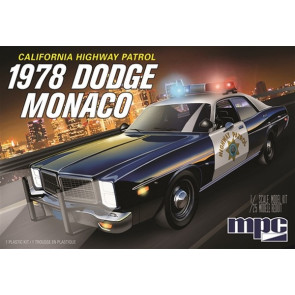 MPC 1:25 1978 Dodge Monaco CHP Police Car 2T Plastic Kit Car Model American