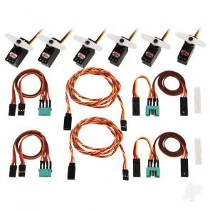 Multiplex Complete Servo Set with Cables M6 / UNI LENTUS