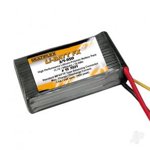 Multiplex LI-BATT Fx 950mAh 11.1V (M6) 157321 LiPo Battery