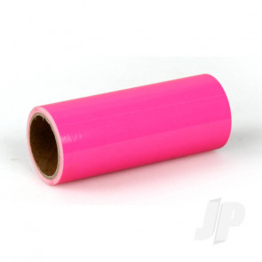 Oracover Oratrim Roll Fluorescent Neon Pink (#14) 9.5cmx2m  Self-Adhesive Covering for RC Model Aircraft