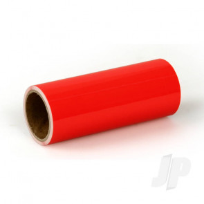 Oracover Oratrim Roll Fluorescent Red (#21) 9.5cmx2m  Self-Adhesive Covering for RC Model Aircraft