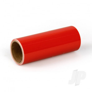 Oracover Oratrim Roll Bright Red (#22) 9.5cmx2m  Self-Adhesive Covering for RC Model Aircraft