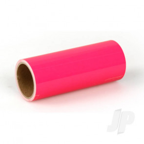Oracover Oratrim Roll Fluorescent Pink (#25) 9.5cmx2m  Self-Adhesive Covering for RC Model Aircraft