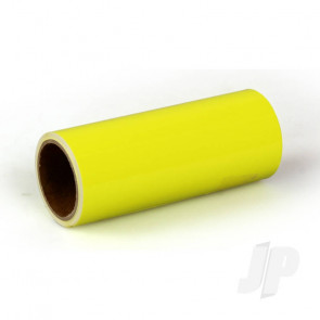 Oracover Oratrim Roll Fluorescent Yellow (#31) 9.5cmx2m  Self-Adhesive Covering for RC Model Aircraft