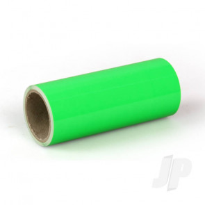 Oracover Oratrim Roll Fluorescent Green (#41) 9.5cmx2m  Self-Adhesive Covering for RC Model Aircraft
