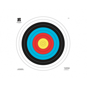 Archery Large 60cm Full Size Indoor Shooting Target Face FITA (Pack of 10)